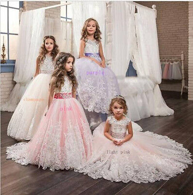 New Formal Ball Gown Party Wedding Birthday Flower Girls Princess Pageant Dress