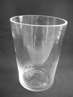 "Modernist / Contemporary Flared Clear Glass Vase ~7.25"" In Height"