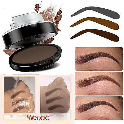 Palette Stamping Fard Poudre à Sourcils Eyebrow Ombre Tampon Pochoir Maquillage