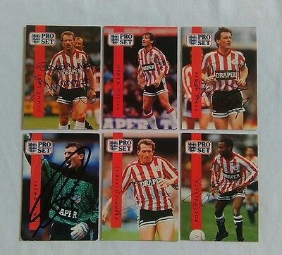 Hand Signed Southampton Football Club Cards - Pro Set 1990/91 - Rod Wallace Etc