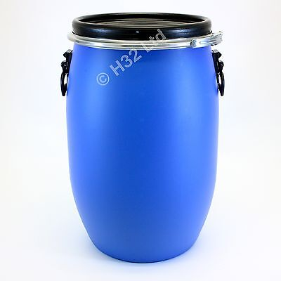 New 60 Litre Open Top 60L Resealable Storage Container Drum 25