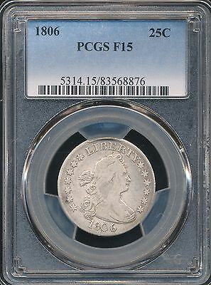 1806 Draped Bust Quarter PCGS F15