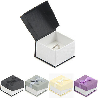 Premium Card Jewellery Ring Boxes 52x48x34mm (LALP02) Printing Available