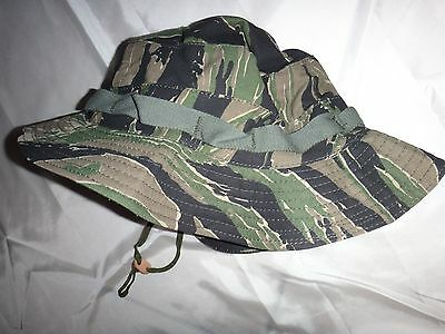 US Army Tiger Stripe Boonie Hat  With Original Label *Never Worn, New Old Stock*