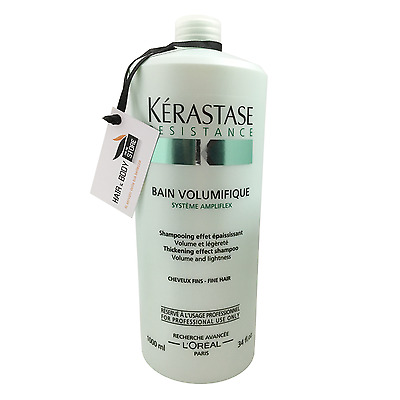 BAIN VOLUMIFIQUE RESISTANCE KERASTASE SHAMPOO capelli fini indeboliti 1000ml