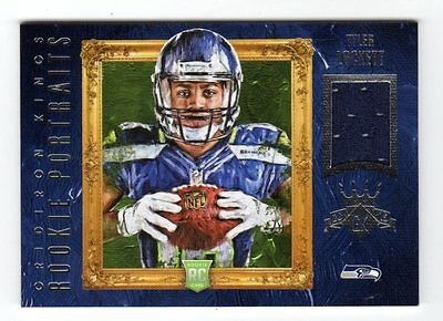 Tyler Lockett Nfl 2015 Gridiron Kings Rookie Portraits Materials (Seahawks) /249
