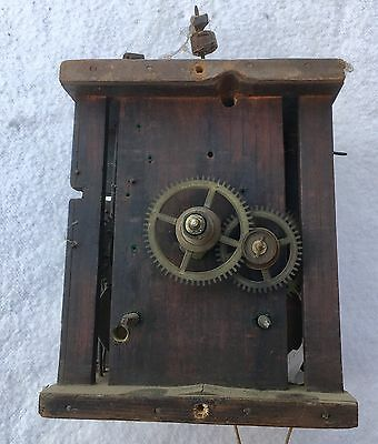 A Very Good Antique Black Forest 8Day Clock Movement Birdcage Wooden