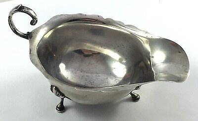 Solid Silver Gravy Sauce Boat 1937 Adie Bros Ltd 98.3g Chester