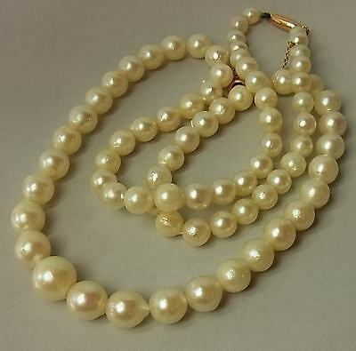 Antique Cultured Sea Pearl Necklace With 9Ct Gold Clasp