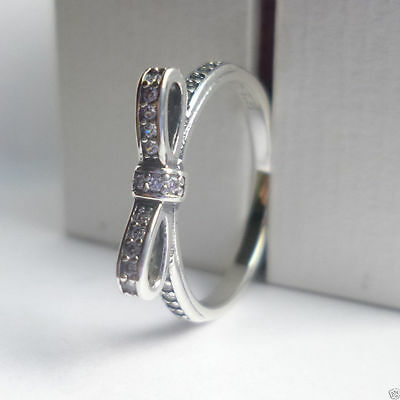 Pandora  Bow  Ring - size optional - genuine, sterling silver ex condition!