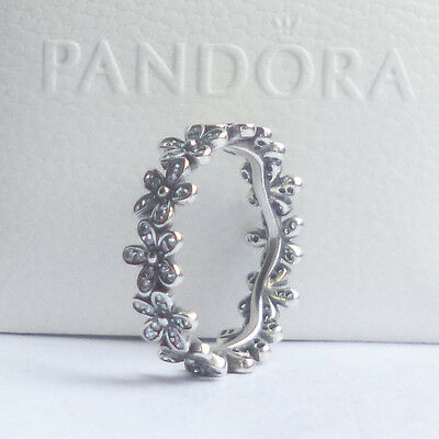 Pandora Dazzling Daisy Band Ring - genuine -  sterling silver - ex condition!