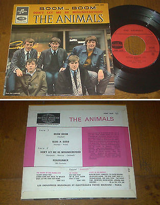 RARE French EP 45t BIEM (7') THE ANIMALS (1966)