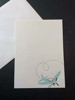 Blank Airplane Stationery Ready To Personalize Baby Boy Announcement Shower 10