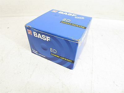 5x BASF 8D Tape 8mm Cleaning Cartridges Box of 5 New Sealed