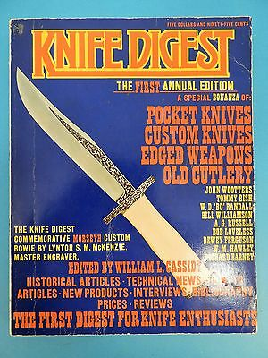 KNIFE DIGEST-THE FIRST ANNUAL EDITION-FIRST EDITION, EDITED BY CASSIDY  c. 1974