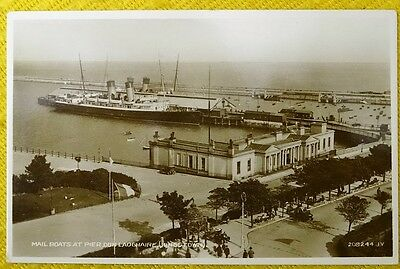 Shipping: Mail Boats, Dun Laoghaire (Kingstown), Dublin Ireland, 1930's RP