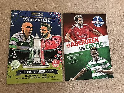 Aberdeen v Celtic 27th May Scottish Cup Final 2017 + League Cup Final Both Mint!