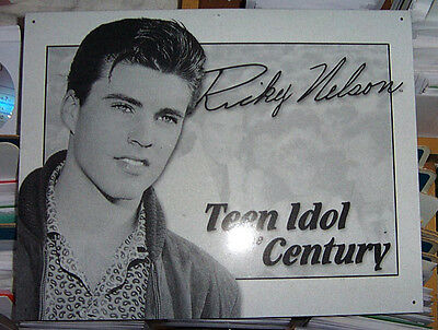 "Ricky Nelson ""teen Idol Of The Century"" Metal Sign"