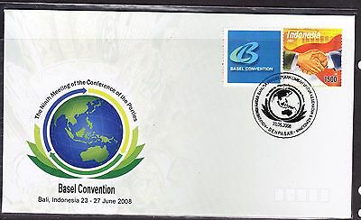Indonesia 2008 - Basel Convention  First Day Cover