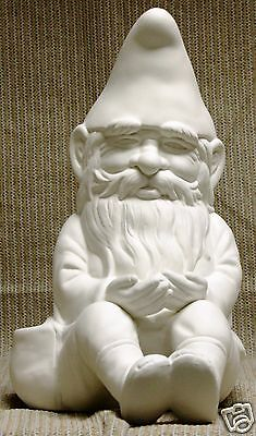 Ceramic Bisque Sitting Gnome Cardinal Design Mold 856 U-Paint Ready To Paint