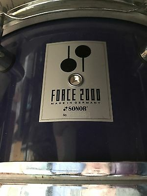"""Sonor 14"""" Force 2000 Drum Purple Lavender Finish Great Color Must SEE L@@K!!!!!!"""