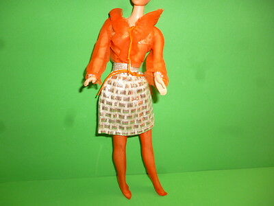 Vintage Barbie Vhtf Fun Shine # 3480 1972 Orange And Silver Mod Era Original