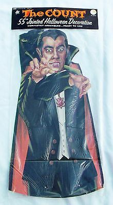 Vintage 1970's The Count Dracula 55 Inch Jointed Halloween Cardboard Decoration