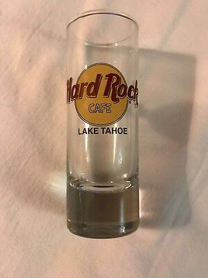 Hard Rock Cafe Lake Tahoe Tall Shot Glass Excellent Condition No Box