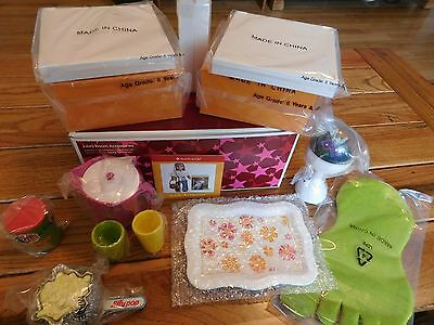 American Girl Julie Room Accessories With Metal Tray First Version Nib Free Ship