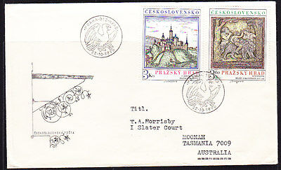 Czechoslovakia 1976 Prague Castle First Day Cover   - Addressed
