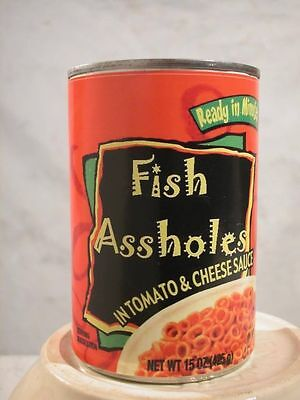 Funny Fun Joke Christmas Stocking Stuffer Gag Gift Fish Ass Holes Label Only