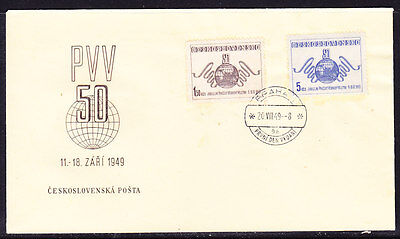 Czechoslovakia 1949 - Stamp Fair. Prague  First Day Cover - Unaddressed