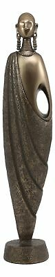 """Abstract Art Maasai Male Statue 11.75""""H Traditional African Nomadic Tribe Decor"""