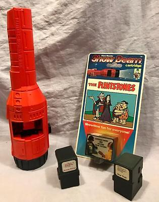 View Master Show Beam Red Light W/ New Flintones & Star Trek, Mickey Mouse