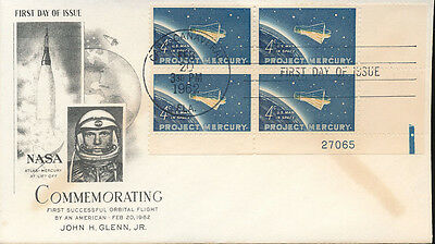 Nasa Mercury John H. Glenn Jr. 1St American In Space First Day Of Issue Pm 1962