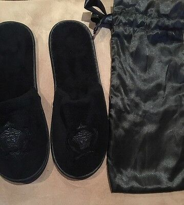 ^BRAND NEW Versace LOGO Slippers + LOGO Pouch ~ Luxury