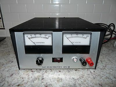 Say Electronics Sps20 Regulated Power Supply Vintage Aircraft