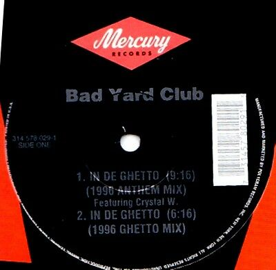 """12"""" - Bad Yard Club Feat. Crystal Waters - In De Ghetto (HOUSE) SEALED - LISTEN"""