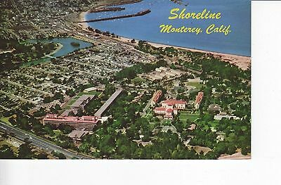 Aerial View: Shoreline of Historic Monterey California US Navy Academy