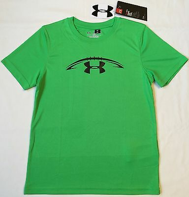 NWT youth Boys' YXL X-large UNDER ARMOUR t-shirt tee loose lightweight FOOTBALL