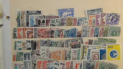 Peru stamp collection on various  pages, glassines, stock, etc  to '80's