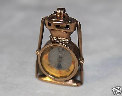 Victorian 10K Rose Gold Antique Ship Capstan Compass Fob For Watch Chain Charm