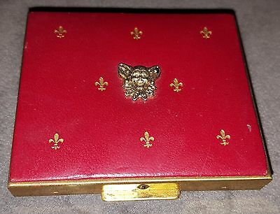 1955 Charles of Ritz Compact FIFTY FUNNY FELLOWS Mardi Gras Favor Red Jester #2