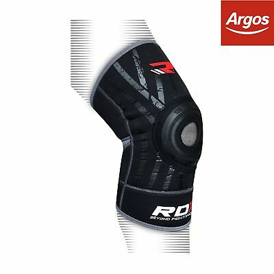 RDX Neoprene Silicone Large to XLarge Knee Support - Black.