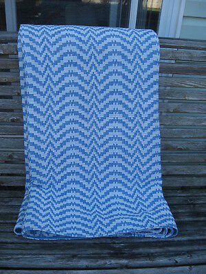 """VINTAGE BLANKET RAG WOVEN CATALOGNE cotton blend material new 82"""" X91"""" INCHE"""