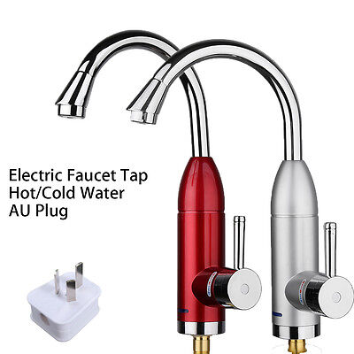 Electric Faucet Tap Hot Cold Water Heater Heating Instant Bathroom Kitchen Sink
