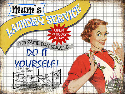 Mum's Laundry Service :funny Retro Vintage Metal Sign Home Decor Great Gift