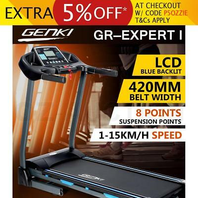 Genki 2HP Treadmill Machine Exercise Gym Home Equipment Fitness with 420MM Belt