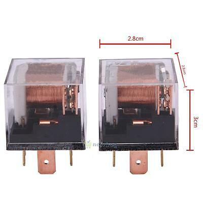 2X Automotive Relay 12V 100A 5Pin SPDT Car Control Device Car Relays Waterproof