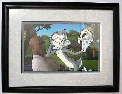 """Michael Jordan X Bugs Bunny """"To Play Or Not To Play"""" LE Cel Warner Bros FRAMED"""